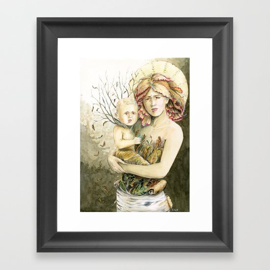 Mother Earth to her child Framed Art Print