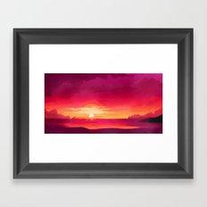A Panoramic Sunset Framed Art Print