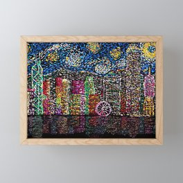 Starry Night of Hong Kong Framed Mini Art Print