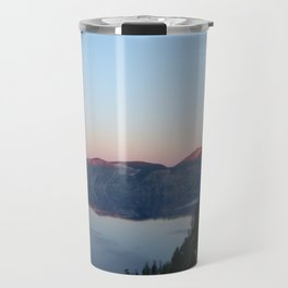 Sunset at Crater Lake Travel Mug