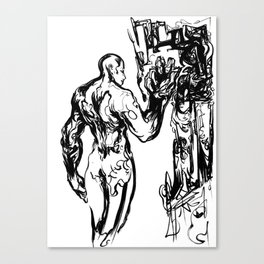 Self Scrutiny Canvas Print