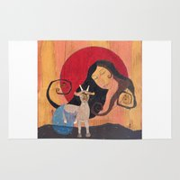 capricorn Area & Throw Rugs featuring Capricorn by LeaK Arts
