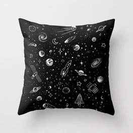 Space Stuff Throw Pillow