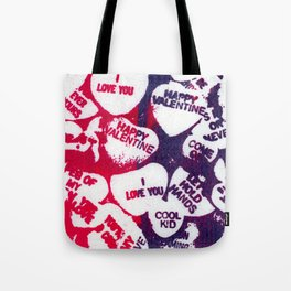 valentine love hearts Tote Bag