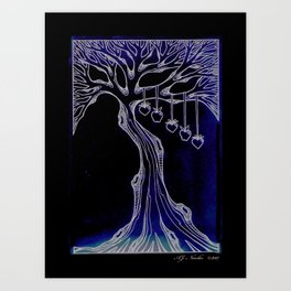 "Family Tree ""Aged Paper"" Art Print"