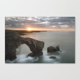 The Green Bridge of Wales Canvas Print