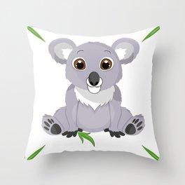 Cute Little Koala Bear Throw Pillow