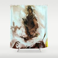 daryl dixon Shower Curtains featuring [ Daryl Dixon * Norman Reedus ] the walking dead by AkiMao
