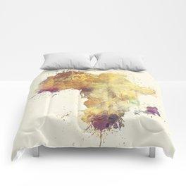 Africa map 5 #africa Comforters