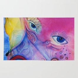 Pop art portrait Rug