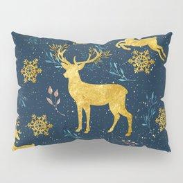 Golden Reindeer Pillow Sham
