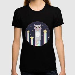 Pastel Cat Space T-shirt