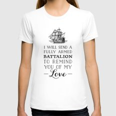A Fully Armed Battalion MEDIUM White Womens Fitted Tee