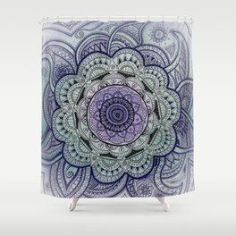 Mandala Violet Shower Curtain