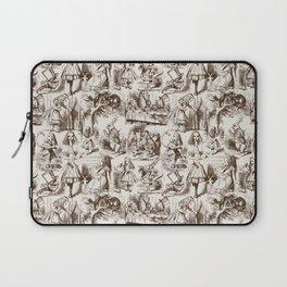 Alice in Wonderland | Toile de Jouy | Brown and Beige Laptop Sleeve