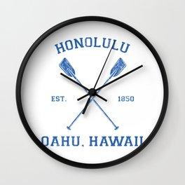 Honolulu Hawaii Vacation Wall Clock