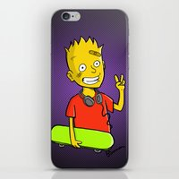 simpson iPhone & iPod Skins featuring Bart Simpson by Bouman