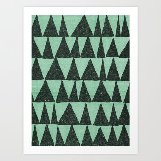 Analogous Shapes. Art Print