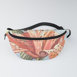 Orange Tiger Lily Watercolor Painting Fanny Pack