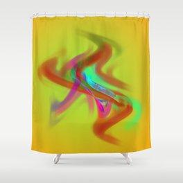el placa de colore Shower Curtain