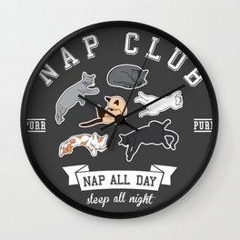 Nap Club Purr Wall Clock