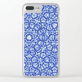 Watercolor Mandala Clear iPhone Case