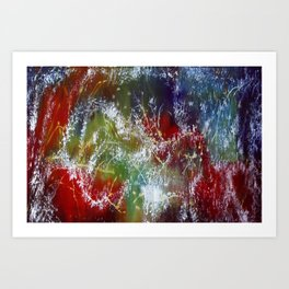 Beautiful Silk Scarf Artwork Art Print