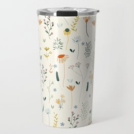Vintage Inspired Wildflower Print Travel Mug