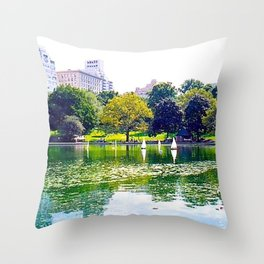 An Afternoon in Central Park Throw Pillow