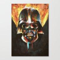darth vader Canvas Prints featuring Darth Vader  by Mishel Robinadeh