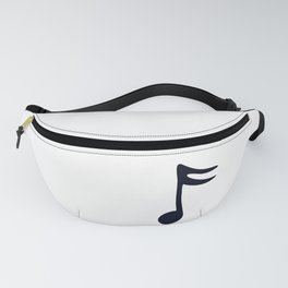 Black Note Fanny Pack