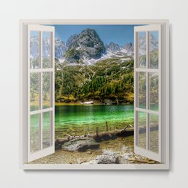 HDR Alps | OPEN WINDOW ART Metal Print