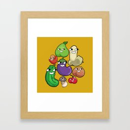 Lewd produce Framed Art Print