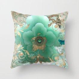 Gilded Sakura Throw Pillow