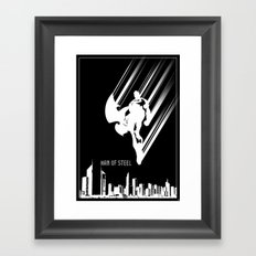 Superman Man of Steel Poster Framed Art Print