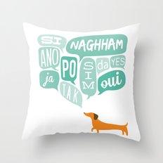 Agreeable Dachshund Throw Pillow