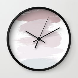 Pastel Brush Strokes Wall Clock
