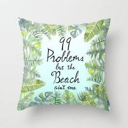 Tropical Chill Throw Pillow