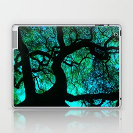 Under The Tree Blue and Green Laptop & iPad Skin