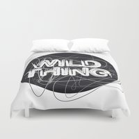 the thing Duvet Covers featuring Wild Thing by feigenherz BAM