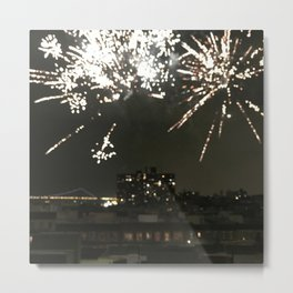 Harlem Fireworks 2 Metal Print