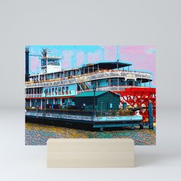 Natchez Riverboat New Orleans Mini Art Print