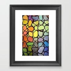 Rainbow Stones Framed Art Print