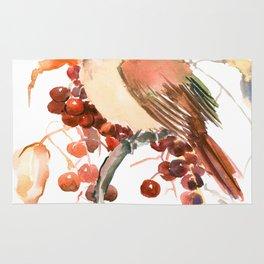 Cardinal and Berries Rug