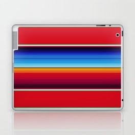 Traditional Mexican Serape in Red Multi Laptop & iPad Skin
