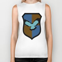 ravenclaw Biker Tanks featuring Ravenclaw Crest by Electric Unicorn
