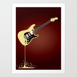 Fluid Guitar Art Print