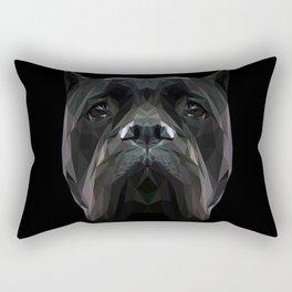 Cane Corso dog low poly. Rectangular Pillow