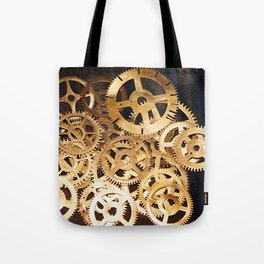 Gears & Leather Tote Bag