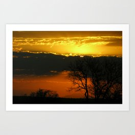 Dramatic Winter Sunset Art Print